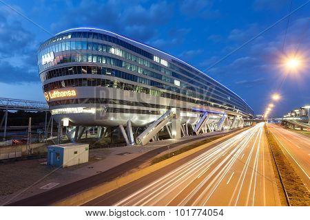 Futuristic Building At The Frankfurt Airport