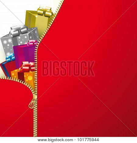 Christmas Red Zip