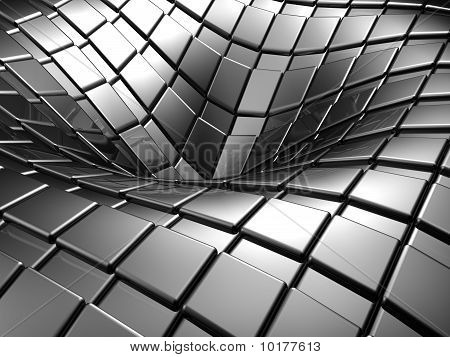 Abstract Aluminium Silver Square Background