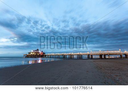 The Belgium Pier In Blankenberge