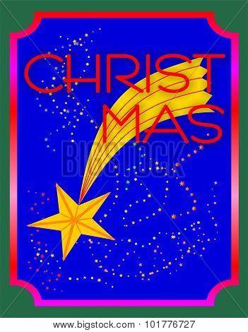 Falling Christmas star