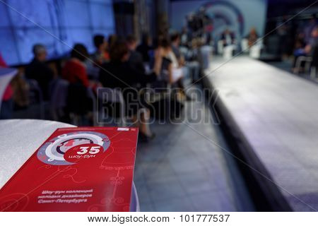 ST. PETERSBURG, RUSSIA - SEPTEMBER 14, 2015: Information booklet about the project