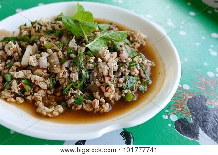 Thailand Traditional Spicy Minced Pork
