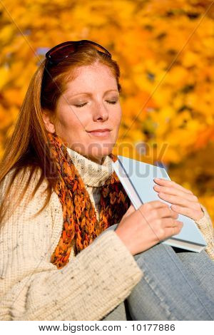 Autumn Sunset Country - Woman Relaxing