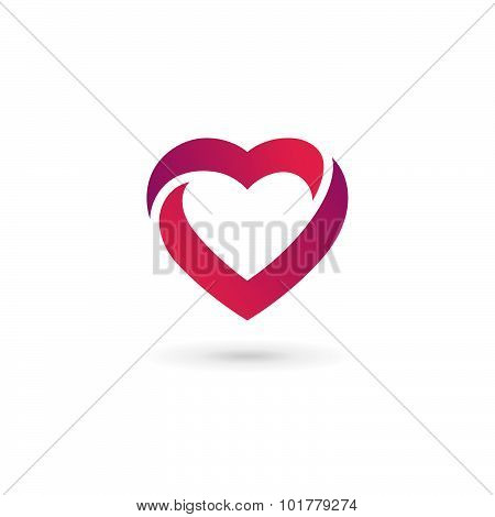 Heart Symbol Logo Icon Design Template. May Be Used In Medical, Dating, Valentines Day And Wedding D