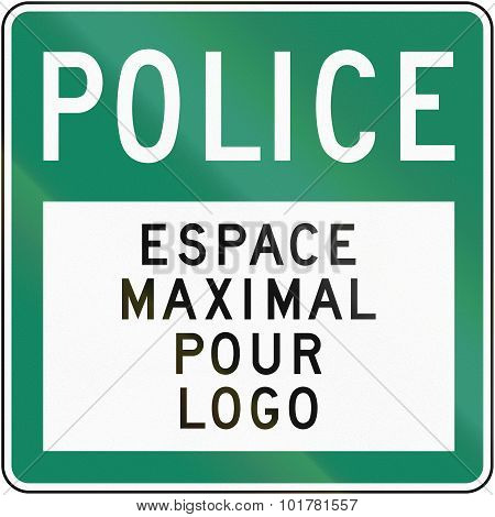 Police With Copy Space In Canada