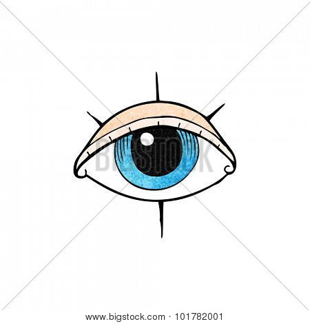 cartoon tattoo eye symbol
