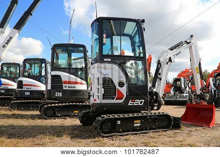 Bobcat Compact Excavators On Display