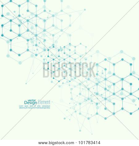 Virtual abstract background with particle