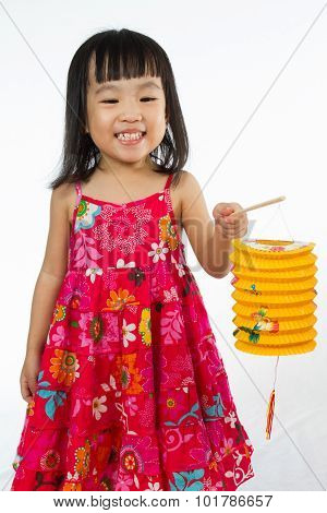 Chinese Little Girl Holding Latern