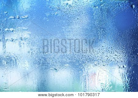 Misted window background