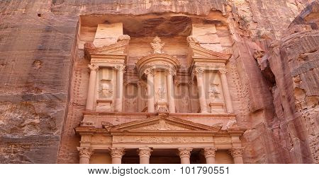 Al Khazneh Or The Treasury At Petra, Jordan-- It Is A Symbol Of Jordan, As Well As Jordan's Most-vis