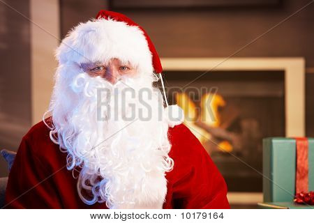Indoor Portrait Of Santa Claus