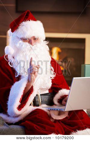 Santa Using Computer