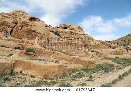 Mountains Of Petra, Jordan, Middle East. Petra Has Been A Unesco World Heritage Site Since 1985