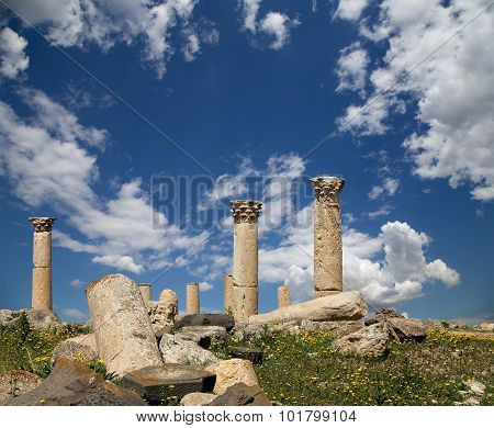 Roman ruins at Umm Qais (Umm Qays) --is a town in northern Jordan