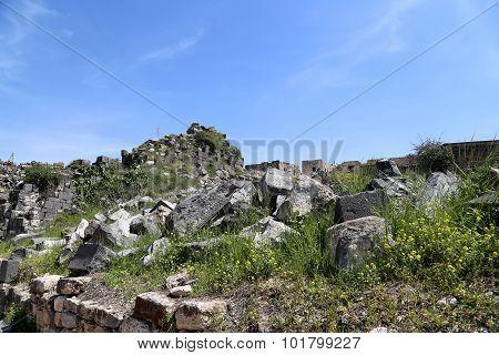 Roman ruins at Umm Qais (Umm Qays) --is a town in northern Jordan