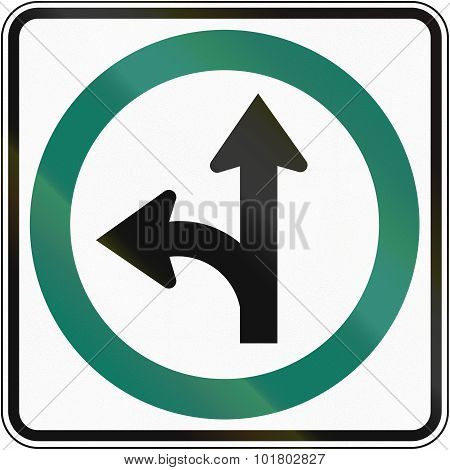 Straight Or Left Direction In Canada