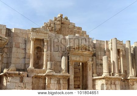 Roman Ruins In The Jordanian City Of Jerash (gerasa Of Antiquity), Capital And Largest City Of Jeras