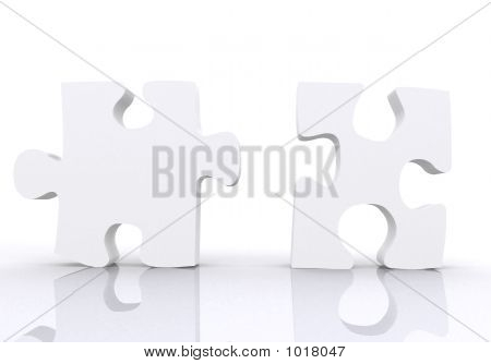 White Puzzle Pieces