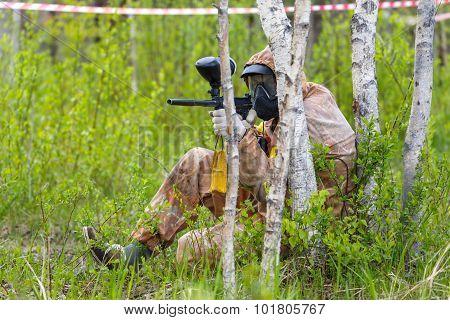 Paintball Ambush In Birch Trees