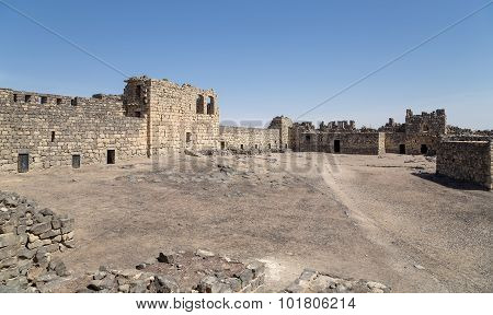 Ruins Of Azraq Castle,  Central-eastern Jordan, 100 Km East Of Amman