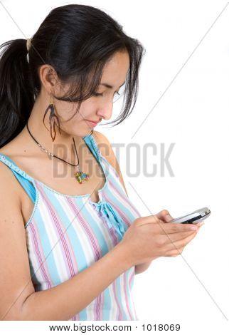 Girl Sending An Sms