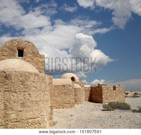 Quseir (Qasr) Amra desert castle near Amman Jordan.