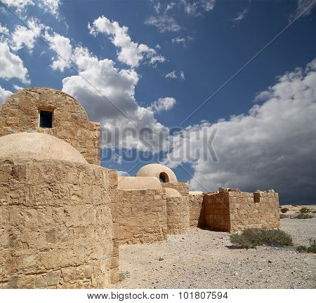 Qasr Kharana (Kharanah or Harrana) the desert castle in eastern Jordan (100 km of Amman)