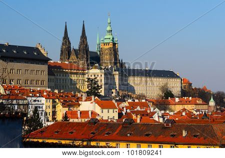 Prague castle and old town, Czech Republic