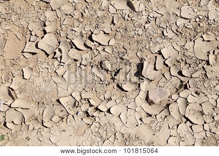 Dry Ground. Can Be Used As Background