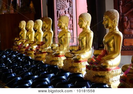Buddha In Thai Temples.