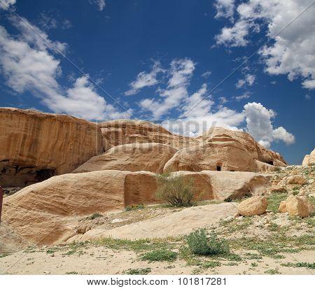 Mountains of Petra Jordan Middle East.