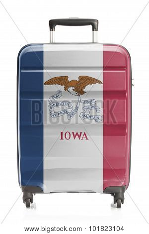 Suitcase With Us State Flag Series - Iowa