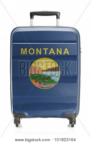 Suitcase With Us State Flag Series - Montana