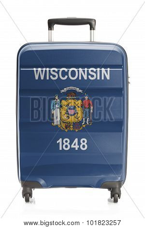 Suitcase With Us State Flag Series - Wisconsin