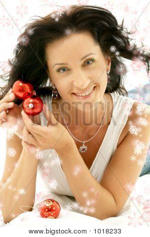 Christmas Smile With Snowflakes