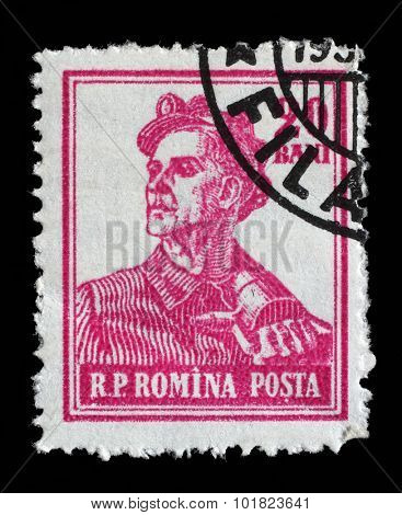 ROMANIA - CIRCA 1955: A stamp printed in Romania from the series Professions, circa 1955.