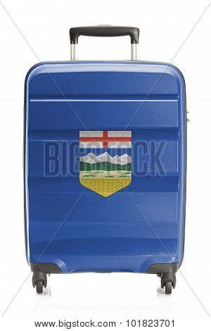 Suitcase With Canadian Territory And Province Flag Series - Alberta