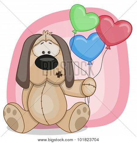 Puppy With Baloons