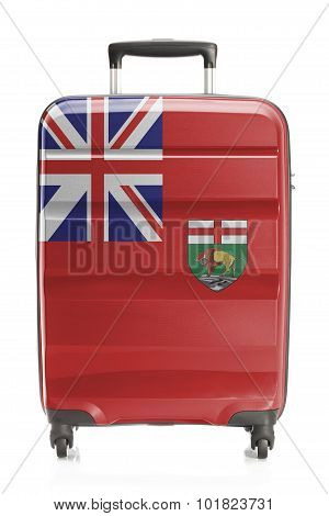 Suitcase With Canadian Territory And Province Flag Series - Manitoba