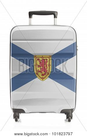 Suitcase With Canadian Territory And Province Flag Series - Nova Scotia