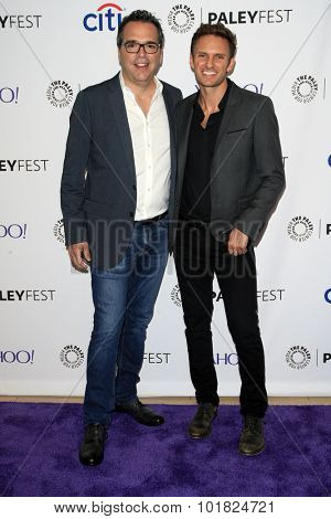 LOS ANGELES - SEP 12:  Michael Seitzman, Ryan McGarry at the PaleyFest 2015 Fall TV Preview - CBS Code Black at the Paley Center For Media on September 12, 2015 in Beverly Hills, CA