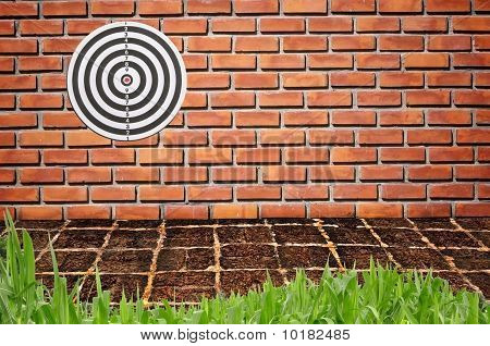 Target On Brick wall