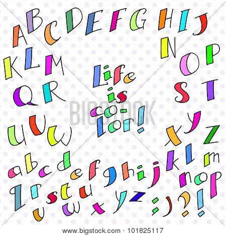 colored funny font