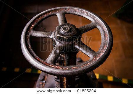 old handwheel of valve