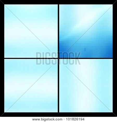Cards Vintage decorative elements. 10 eps. Vector