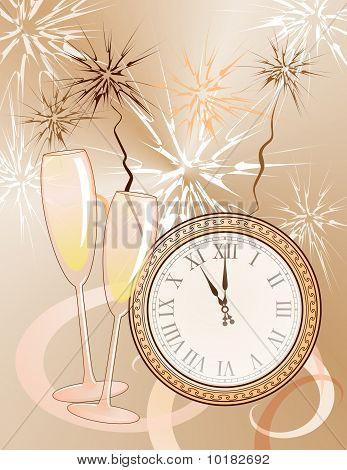 Neujahrs Hintergrund