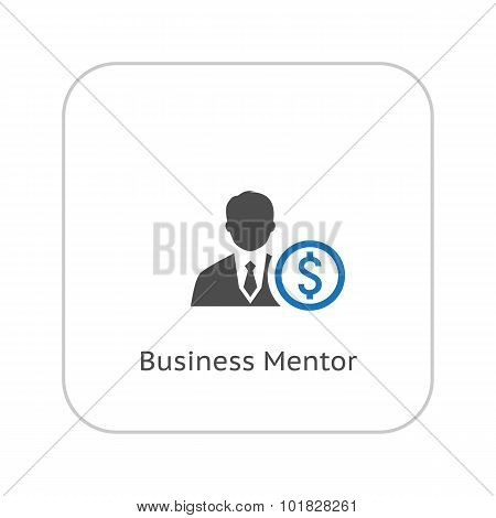 Mentor Icon. Business Concept. Flat Design.