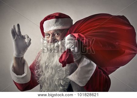 Satisfied Santa Claus